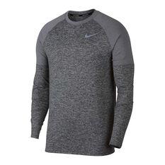 Nike Mens Element Crew Running Top Dark Grey S, Dark Grey, rebel_hi-res
