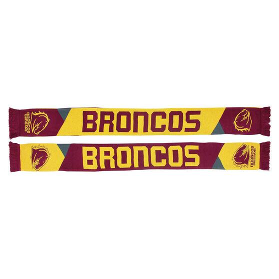Brisbane Broncos Geo Jacquard Scarf, , rebel_hi-res
