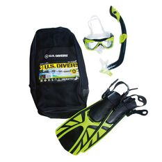 US Diver Bonito Junior Snorkel Set Yellow S / M, Yellow, rebel_hi-res
