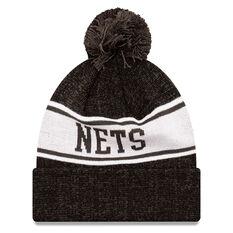 Brooklyn Nets New Era Pom Knit Beanie, , rebel_hi-res