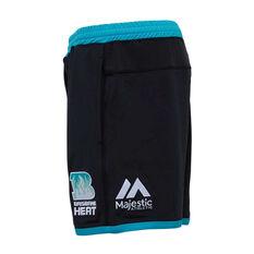 Brisbane Heat 2019/20 Mens Training Shorts Black S, Black, rebel_hi-res