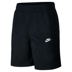 Nike Mens Sportswear Woven Track Shorts Black XS, Black, rebel_hi-res