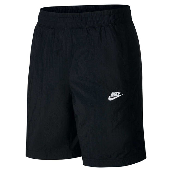 Nike Mens Sportswear Woven Track Shorts, Black, rebel_hi-res