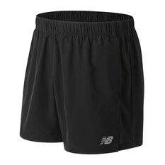 New Balance Mens Accelerate 5in Running Shorts Black / Black S Adult, Black / Black, rebel_hi-res