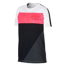 Nike Boys Dri-Fit CR7 Tee White / Pink XS, White / Pink, rebel_hi-res