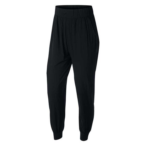 Nike Womens Bliss Pants Black XS, Black, rebel_hi-res