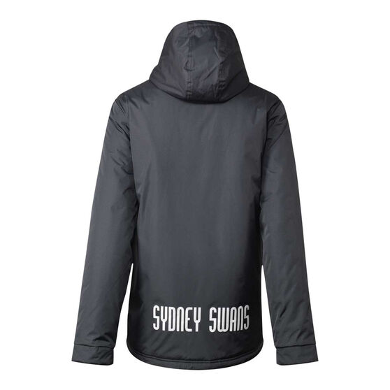 Sydney Swans 2021 Mens Retro Stadium Jacket, Grey, rebel_hi-res