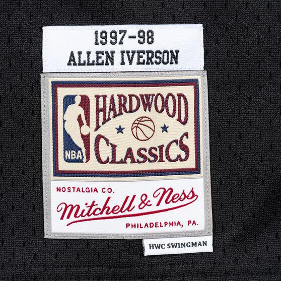 Philadelphia 76ers Allen Iverson 97/98 Mens Swingman Jersey Black L, Black, rebel_hi-res
