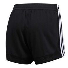 adidas Womens 3 Stripes 5 Inch Mesh Shorts Black XS, Black, rebel_hi-res