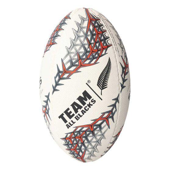 adidas New Zealand Mini Rugby Ball White / Black 3, , rebel_hi-res