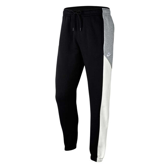 Nike Sportswear Mens Colour Block Fleece Track Pants, Black, rebel_hi-res