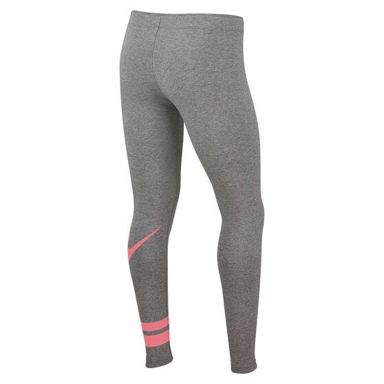 Nike Girls Favourite Leggings, Grey / Pink, rebel_hi-res