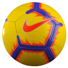 Nike Pitch FA 18 Soccer Ball Yellow / Red 3, Yellow / Red, rebel_hi-res