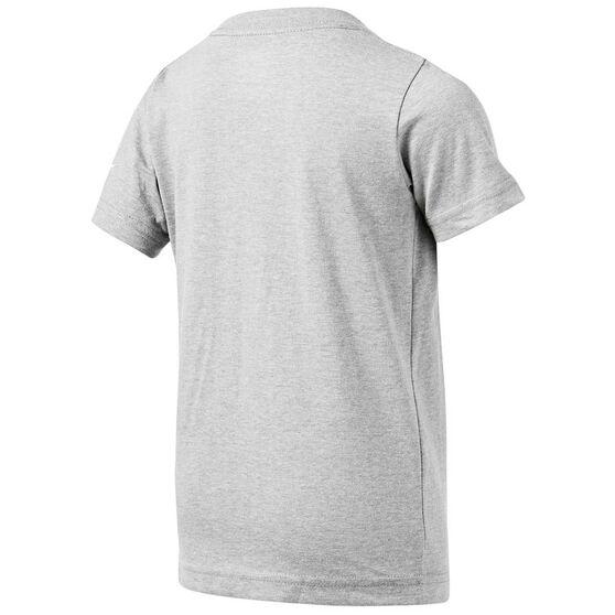 Nike Boys JDI Swoosh Split Bolt Cotton Tee Grey 6, Grey, rebel_hi-res