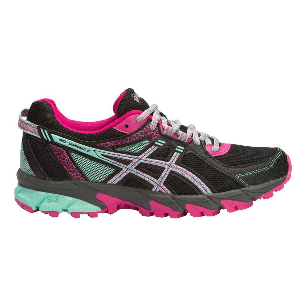 9969df161fea Asics Gel Sonoma 2 Womens Trail Running Shoes Black   Pink US 6 ...