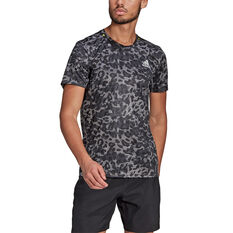 adidas Mens Primeblue Graphic Tee Grey S, Grey, rebel_hi-res
