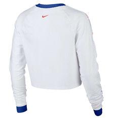 Nike Womens Hyper Femme Running Top White XS, White, rebel_hi-res