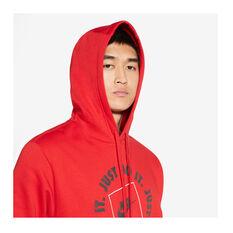 Nike Mens Sportswear Just Do It Fleece Hoodie, Red, rebel_hi-res