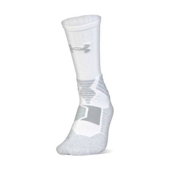 Under Armour Drive Curry Basketball Socks, White, rebel_hi-res