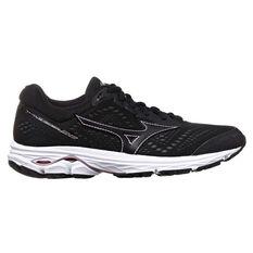 Mizuno Wave Rider 22 Womens Running Shoes Black / Rose Gold US 6, Black / Rose Gold, rebel_hi-res
