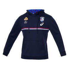 Western Bulldogs 2020 Mens Training Hoodie Navy S, Navy, rebel_hi-res