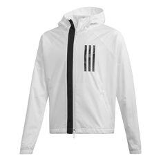 adidas Girls ID Windbreaker Jacket White / Black 8, White / Black, rebel_hi-res
