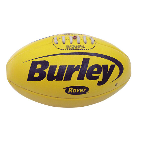 Burley Rover Leather Australian Rules Ball, Yellow, rebel_hi-res