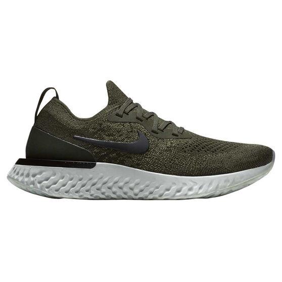 4e4c7aa4d776 Nike Epic React Flyknit Womens Running Shoes Khaki   Black US 7 ...
