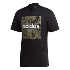 adidas Mens Camouflage Box Tee Black S, Black, rebel_hi-res