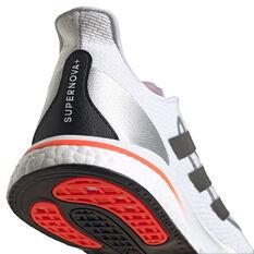 adidas Supernova+ Mens Running Shoes, White/Red, rebel_hi-res