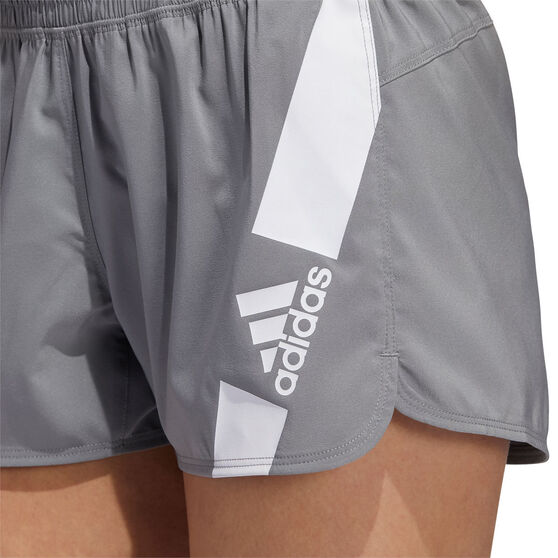 adidas Womens Pacer Disrupt Shorts, Grey, rebel_hi-res