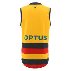 Adelaide Crows 2021 Mens Away Guernsey Yellow S, Yellow, rebel_hi-res