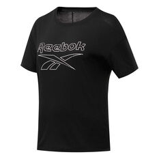 Reebok Womens Workout Ready Supremium Tee Black XS, Black, rebel_hi-res