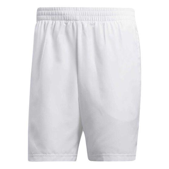 adidas Mens Club Bermuda Tennis Shorts, White, rebel_hi-res