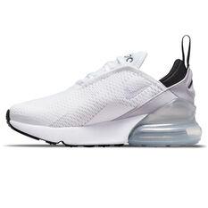 Nike Air Max 270 Kids Casual Shoes White/Purple US 11, White/Purple, rebel_hi-res