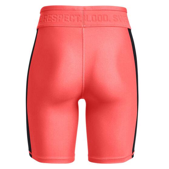 Under Armour Womens Project Rock HeatGear Bike Shorts, Red, rebel_hi-res