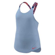 Nike Girls Dry Elastica Tank Blue / Pink XS, Blue / Pink, rebel_hi-res