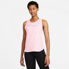Nike Womens Swoosh Run Tank Pink XS, Pink, rebel_hi-res