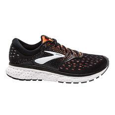 Brooks Glycerin 16 Mens Running Shoes Black / Orange US 8, Black / Orange, rebel_hi-res
