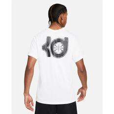 Nike Mens Dri-FIT KD Logo Basketball Tee White S, White, rebel_hi-res