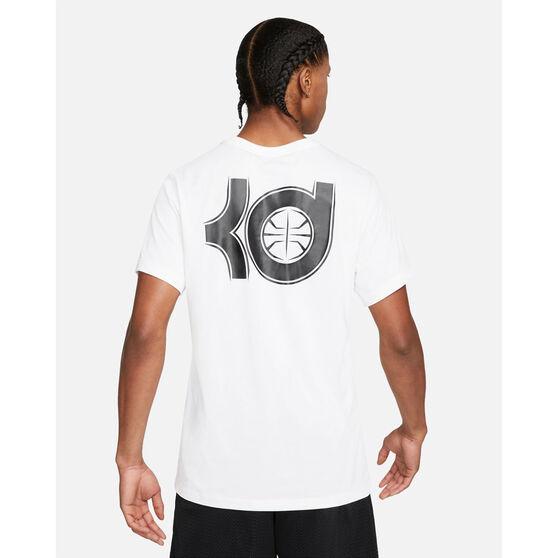 Nike Mens Dri-FIT KD Logo Basketball Tee, White, rebel_hi-res
