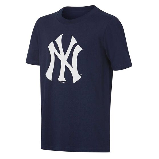 New York Yakees Short Sleeve Cotton Tee, Navy / White, rebel_hi-res