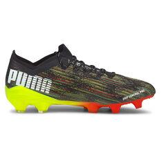 Puma Ultra 1.2 Football Boots Black US Mens 7 / Womens 8.5, Black, rebel_hi-res
