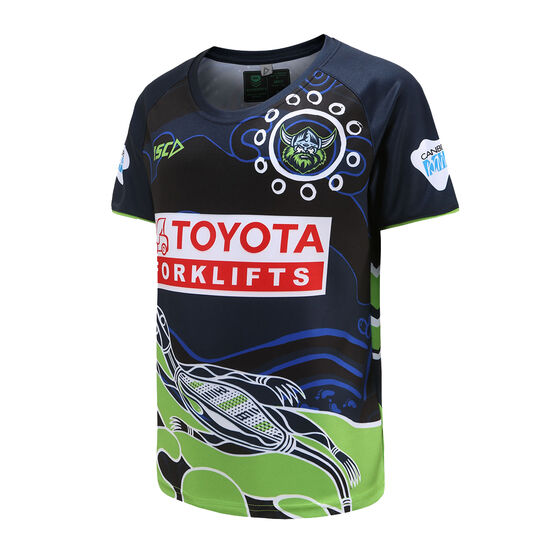 Canberra Raiders 2021 Kids Indigenous Run Out Tee Blue 8, Blue, rebel_hi-res