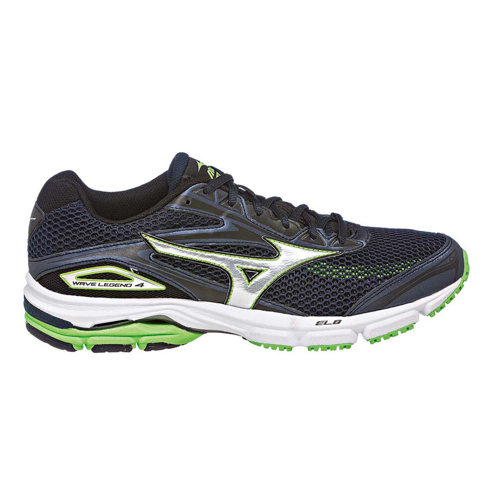 Mizuno Wave Legend 4 Mens Running Shoes Navy   Green US 8  89b1cfc599c