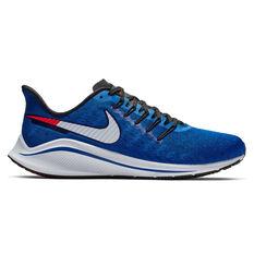 Nike Air Zoom Vomero 14 Mens Running Shoes Navy / White US 7, Navy / White, rebel_hi-res