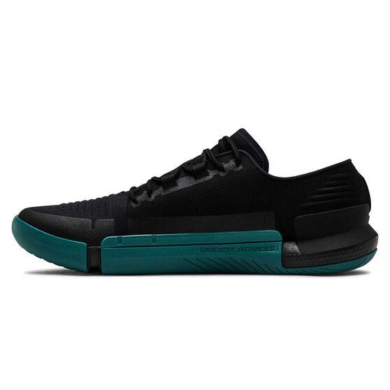 Under Armour Tribase Reign Mens Training Shoes, Black / Green, rebel_hi-res