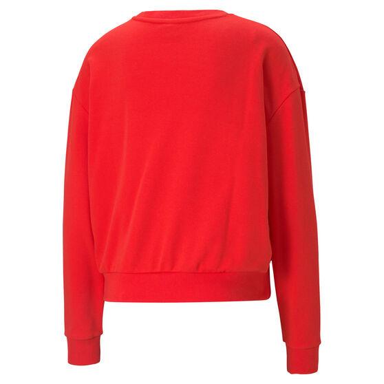 Puma Womens Modern Basics Sweater, Red, rebel_hi-res