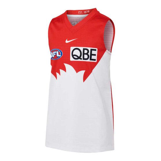 Sydney Swans 2021 Kids Home Guernsey, Red/White, rebel_hi-res
