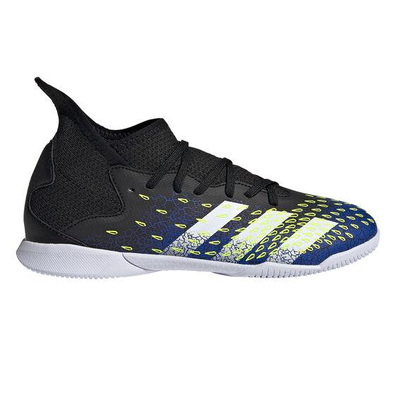 adidas Predator Freak .3 Kids Indoor Soccer Shoes, Black, rebel_hi-res